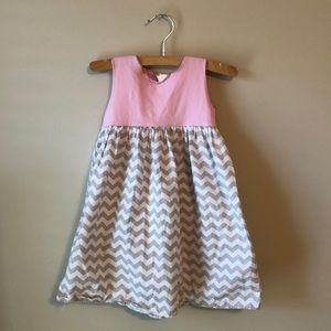 Beehave Chevron Toddler Dress - 2T